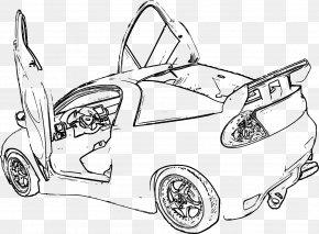 Car - Line Art Car Door Coloring Book Clip Art PNG