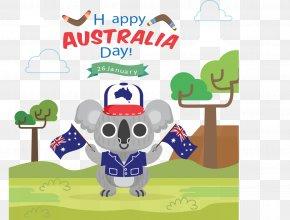 Holding The Flag Koala - Kangaroo Flat, South Australia Koala Australia Day Clip Art PNG