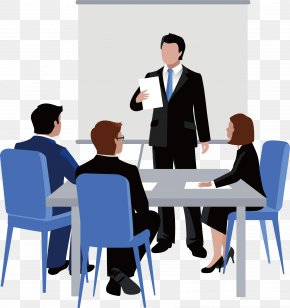 Discussion Work - Meeting Euclidean Vector Business Illustration PNG