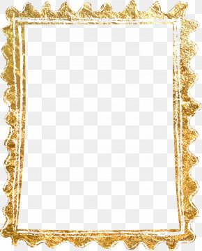 Material Gold Border - Picture Frame Gold PNG