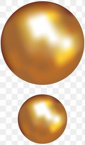 Gold Pearls Transparent Clip Art Image - Sphere Material Orange Egg Wallpaper PNG