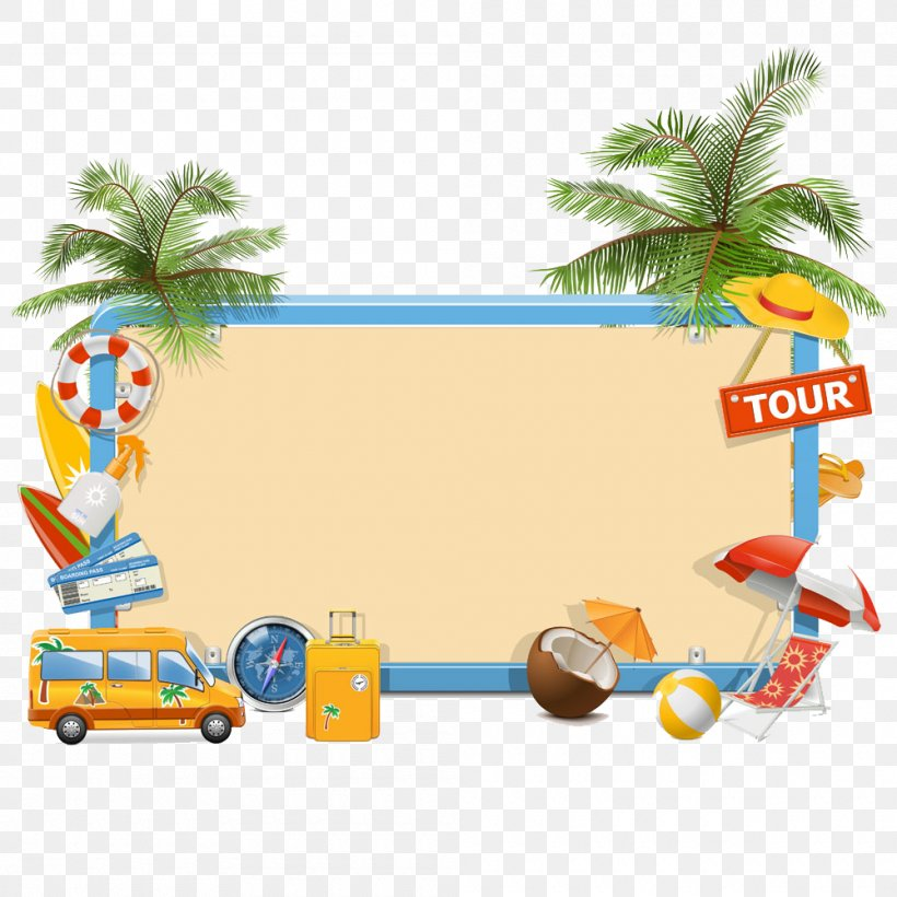 Summer Vacation Clip Art, PNG, 1000x1000px, Vacation, Area, Art, Beach, Cartoon Download Free