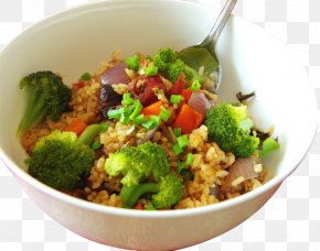 Broccoli Rice - Vegetarian Cuisine Fried Rice Ribs Cooked Rice PNG