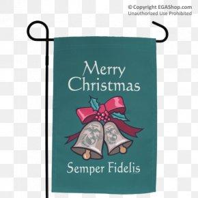 Semper Fidelis - Eagle, Globe, And Anchor Flag Garden Semper Fidelis PNG