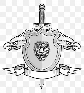 Vector Eagle Shield - Light Sword Euclidean Vector Illustration PNG