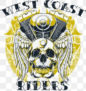 Vector Skull Print - T-shirt West Coast Of The United States Stock Photography Royalty-free PNG