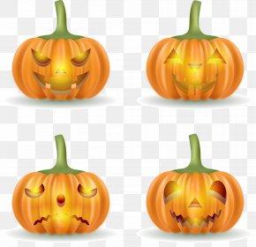 Horror Halloween Pumpkin Vector - Jack-o-lantern Halloween Pumpkin Calabaza PNG
