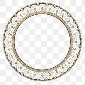 Continental Circular Flower Border - Picture Frame PNG