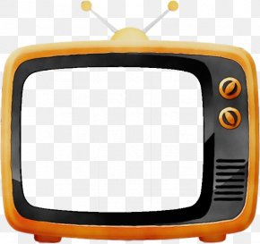 Display Device Television Set - Television Yellow Media Screen Television Set PNG