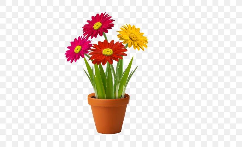 Flowerpot Vase Clip Art, PNG, 500x500px, Flowerpot, Common Daisy, Cut Flowers, Daisy Family, Drawing Download Free
