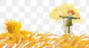 Wheat Sequence Scarecrow - Autumn Poster PNG