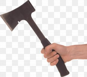 Ax In Hand Image - Hand Axe Hammer Tool PNG