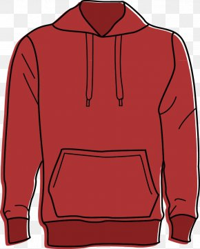 Men's Sweater Jacket - Red Hoodie Sweater Clothing PNG