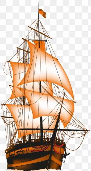 Offshore Sailing - Brigantine Sailing Ship PNG
