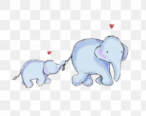 Elephant - Elephant Infant Mother Illustration PNG