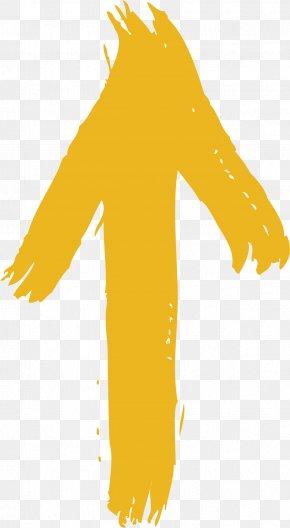 Yellow Cute Arrows - Arrow Euclidean Vector Yellow Computer File PNG