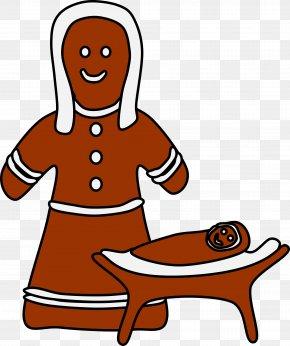 Gingerbread Man - Christmas Gingerbread Man Clip Art PNG