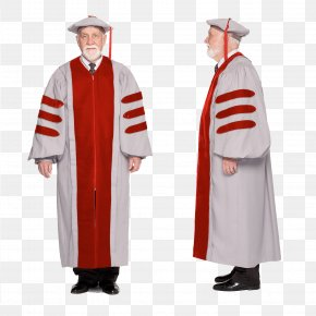 Graduation Gown - Robe Academic Dress Doctor Of Philosophy Doctorate Graduation Ceremony PNG