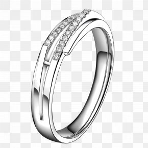 Silver Diamond Lady Ring - Wedding Ring Jewellery Diamond PNG