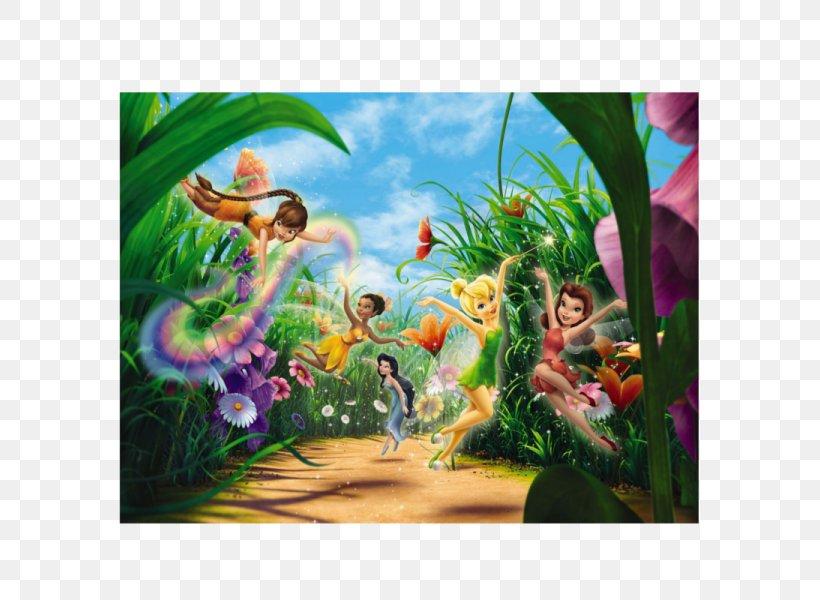 Disney Fairies Tinker Bell Pixie Hollow Mural Wallpaper Png