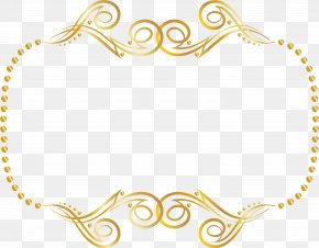 Gold Lace Frame - Picture Frames Clip Art Image PNG