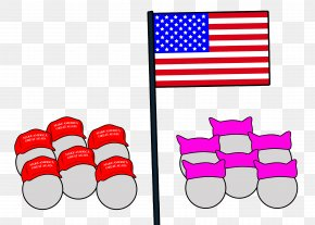 United States - Flag Of The United States Line Clip Art PNG