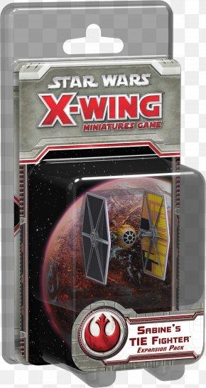 Star Wars - Star Wars: X-Wing Miniatures Game Star Wars: TIE Fighter Star Wars: X-Wing Vs. TIE Fighter Fantasy Flight Games Star Wars X-Wing: Sabine's TIE Fighter X-wing Starfighter PNG
