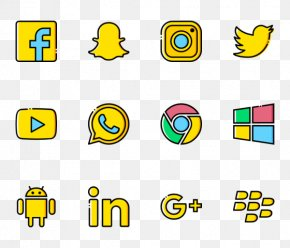 Social Media Pack - Technology Brand Line Font PNG