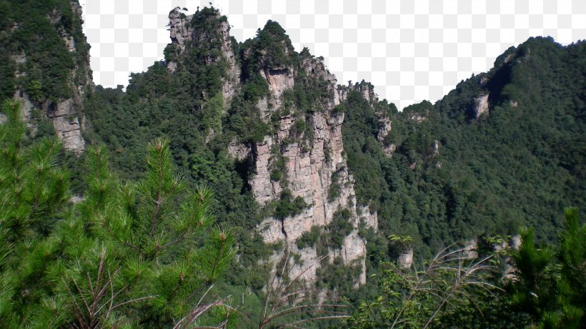 Zhangjiajie National Forest Park Tianzi Mountain U5929u5b50u5c71u98a8u666fu533a U067eu0627u0631u06a9 U062cu0646u06afu0644u06cc Wallpaper, PNG, 1920x1080px, Zhangjiajie National Forest Park, Biome, Cliff, Escarpment, Forest Download Free
