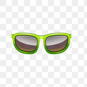 Sunglasses - Sunglasses Green Goggles PNG