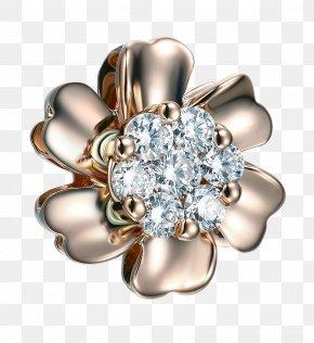Gold Diamond Jewelry Flower - Ring Jewellery Diamond Gold PNG