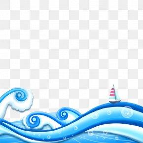 Blue Wave - Wind Wave Cartoon Speech Balloon PNG