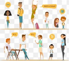 School Vector - Royalty-free Euclidean Vector Cartoon Illustration PNG