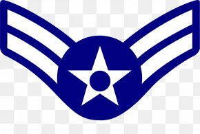 Air Force - United States Air Force Enlisted Rank Insignia Airman First Class Senior Airman PNG