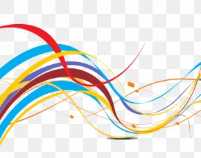 Colorful Lines - Euclidean Vector Abstract Clip Art PNG