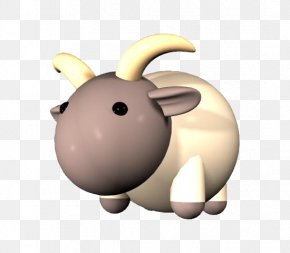 Purple Goat Head - Goat Sheep Cartoon 3D Computer Graphics PNG