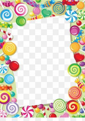 Candy Lollipop Border - Candy Cane Candy Corn Chocolate Bar Clip Art PNG