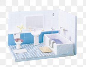 Children's Toy House Model - Bathroom Shower House PNG