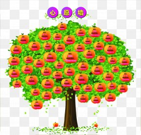 Covered With Apples' Wishing Tree - Lam Tsuen Wishing Trees Download Icon PNG