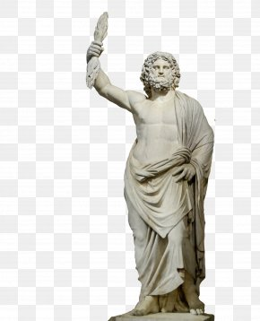 Ancient Greek Stone Figures - Statue Of Zeus At Olympia Hades Poseidon PNG