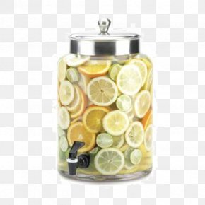 Two Glass Jars - Glass Infusion Gallon Drink Dispenser PNG
