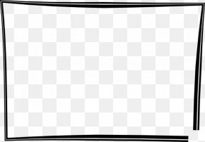 Picture Frame Clipart - Black And White Square Area PNG