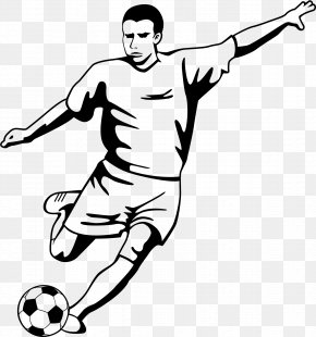 Footballer - Stencil Football Player Sport Soccer Player PNG