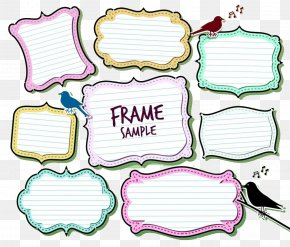 Hand Drawn Note Type Phonetic Strip - Text Box PNG