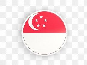 Flag - Flag Of Singapore National Flag Lion Head Symbol Of Singapore PNG