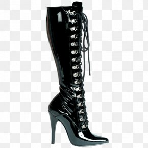 Boot - Knee-high Boot Thigh-high Boots High-heeled Shoe PNG