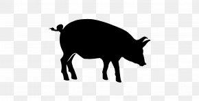 Blackandwhite Silhouette - Pig Cartoon PNG