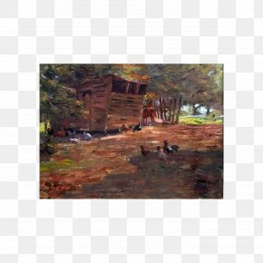 Painting - Painting Land Lot Landscape Tree Real Property PNG