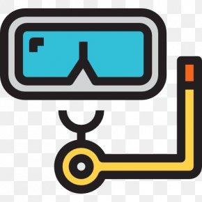 Swimming Glasses - Scuba Diving Swimming Underwater Diving Clip Art PNG
