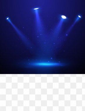 Vector Fantasy Blue Stage Lighting - Spotlight Stage PNG